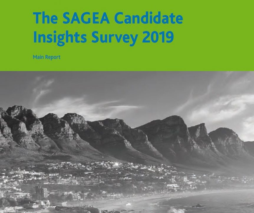 The SAGEA Candidate Insights Survey 2019 cover employer awards 2019