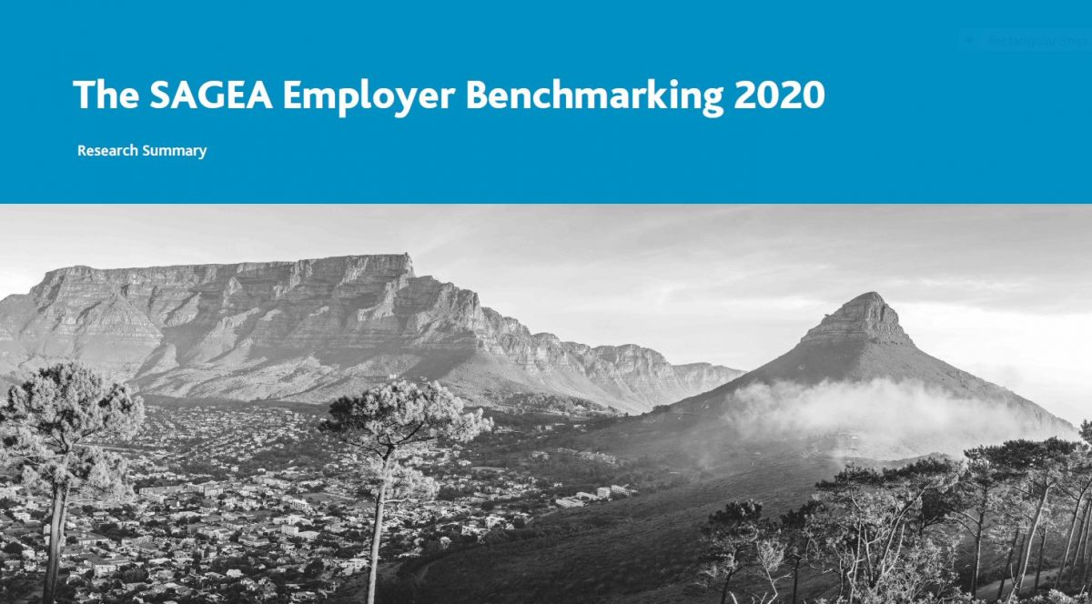 SAGEA Employer Benchmarking 2020 report cover
