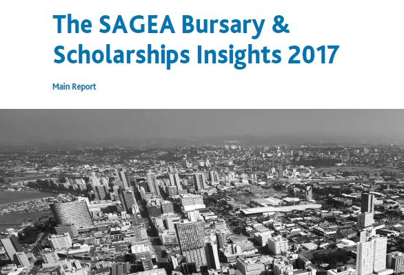 The SAGEA Bursary & Scholarships Insights 2017 report cover