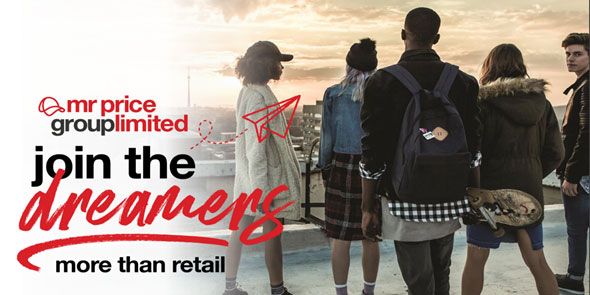 "Mr Price ""Join the Dreamers"" graduate recruitment campaign for 2019 won the SAGEA Award for Best Integrated Campaign in the category for employers who recruit up to 20 graduates per year"